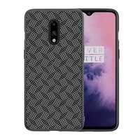 NILLKIN Synthetic Fiber Plaid Anti-fingerprint Anti-Scratch Protective Case for OnePlus 7