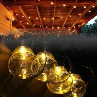 2.5M 5M AC220V Outdoor Waterproof Warm White LED Globe Bulb String Light for Patio Garden Home Decor