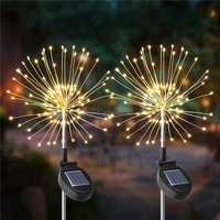 2PCS Solar Powered 105LED Starburst Fireworks Fairy String Landscape Light Christmas Outdoor Decor