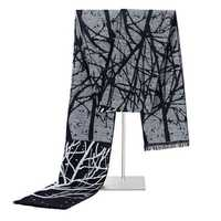 Men's Winter Warm Tree Printing Scarves Casual Viscose Soft Scarf Neckercheif
