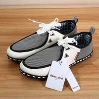 Bang good Men Lace Shoes Fashion Leather Sneakers