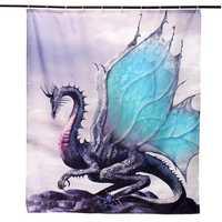 Custom Dragon Waterproof Bathroom Shower Curtain Bathroom Decor 60 x 72 Inch