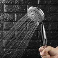 Adjustable Shower Head Bathroom Handheld Five Shower Modes Showerhead Wall Mounted