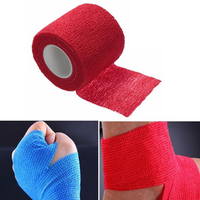 2PCS Red Non-woven Adhesive Elastic Supporting Finger Arm Bandage Tapes