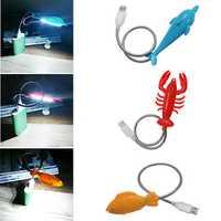 Creative Cute Animal Shape LED USB Night Light For Notebook PC Laptop Power Bank