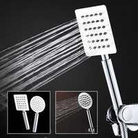 2mm Thinckness Square Stainless Steel Handheld Shower Head Round Pressurized Anti Scald Shower