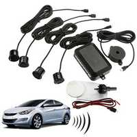 4 Parking Sensors Car Reverse Rear Radar System Kit Sound Alarm