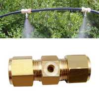 3/16 Inch Brass Spraying Nozzle Through Type Connector Gardening Irrigation Accessories