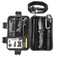 IPRee® A4 10 In 1 Outdoor EDC Survival Tools Case SOS First Aid Kit Multifunctional Emergency Box