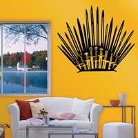 T-2 Game Props Right Iron Throne Stickers Carved Creative Wall Stickers Toilet Stickers