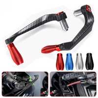 Carbon Fiber Motorcycle Motorbike Handlebar Grip Aluminum Alloy Protective Guards Bar