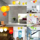 Meilleurs prix 25cm E27 Balloon Chandelier Ceiling Pendant Light Modern Wall Lamp Fixture Party Decor Gift