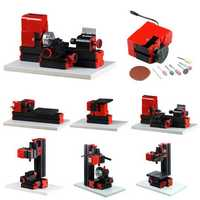 Raitool® 8 In 1 Multipurpose Wood Model Making DIY Tool Basic Lathe Milling Drilling Sanding Tools Kit
