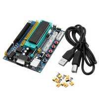 DC 12V PIC16F877A PIC Minimum System Development Board Emulator JTAG ICSP Program Minimum System Microcontroller Module