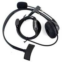 Retevis 2 Pin PTT Mic Headset for Baofeng Walkie Talkie Earpiece Quansheng Puxing TYT C9009A