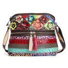 Meilleurs prix Women PU Leather Floral Vintage Casual Crossbody Bag Shoulder Bag