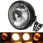 Meilleur prix 7inch H4 35W Amber Hi/Low Beam Turn Signal Motorcycle Headlight With Bracket For Harley