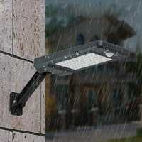 60 LED Remote Control Solar PIR Motion Sensor Street Light Waterproof Outdoor Garden Wall Lamp 3 Lighting Modes
