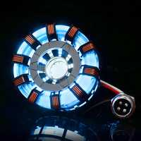 MK2 Stainless Steel Remote Ver. Tony DIY Arc Reactor Lamp Kit Remote Control Illuminant LED Flash Light Set