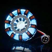 MK2 Stainless Steel Remote Ver. Tony DIY Arc Reactor Lamp Kit Remote Control Illuminant LED Flash Light Set
