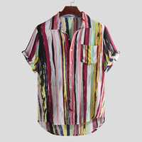 Mens Fashion Colorful Pockets Design Casual Shirts