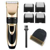 Gold Rechargeable Electric Hair Clipper Space Cutting Blade