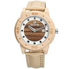 Meilleurs prix SKONE 3816 Fashion Men Wooden Watch Casual Leather Strap Sport Wrist Watch