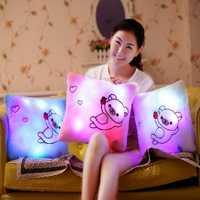 Honana Luminous Pillow Christmas Toys Led Light Plush Funny Pillow Colorful Kids Toys Birthday Gift