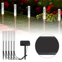 5 in 1 Solar LED Acrylic Bubble Lawn Lamp Set Waterproof Garden Lawn Landscape White Light Decor