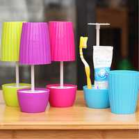 Creative Bonsai Style Table Lamp Shape Toothbrush Cup Toothpaste Holder Bathroom Accessories