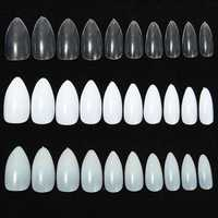 600pcs Almond Oval Shape Stiletto Pointy Full False Nail Art Tips Claw Acrylic Gel Polish
