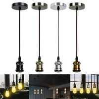 E26/E27 Retro Pendant Light Cafe Living Room Ceiling Lamp Bulb Adapter Holder Socket Base