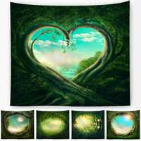 Polyester Fancy Moon Light Tapestry Throw Mat Yoga Rug Wall Hanging Home Decor Art Crafts