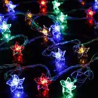 220V EU Christmas Cercis LED Light String Curtain Light Home Decor Celebration Festival Wedding