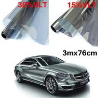 15% 30% 3mx76cm LVT Car Auto Window Glass Tint Film Tinting Roll Silver Mirror
