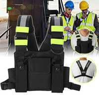 Chest Pocket Pack Harness Nylon Bag Backpack Holster for Radio Walkie Talkie