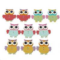 10pcs Wooden Owl Pattern Sewing Buttons DIY Craft Purse Baby Clothes Decoration Sewing Button