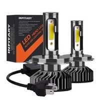 Infitary F2 Car COB LED Headlights Bulbs Fog Lamp H1 H3 H4 H7 H11 9005 9006 12V-24V 72W 8000LM 6500K White
