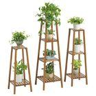 Discount pas cher 2/3/4 Tier Flower Pot Stand Wooden Indoor Plant Garden Planter Shelf Wood Rack