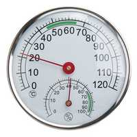 Stainless Steel Thermometer/Hygrometer for Sauna Room Temperature Humidity Meter