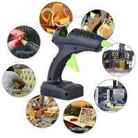 60W Cordless Hot Glue G un Trigger Melt Electric Heating DIY Adhesive Repair Tool