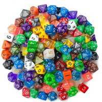 140 Pcs Polyhedral Dice Board RPG MTG Dice Set 20 Colors 4D 6D 8D 10D 12D 20D With 20 Pouch