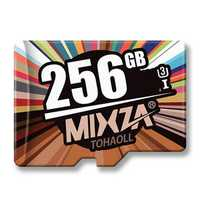 MIXZA Fashion Edition U3 Class 10 256GB TF Micro Memory Card for DSLR Digital Camera MP3 HIFI Player TV Box Smartphone