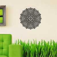 59X59CM Removable Mandala Flower Wall Stickers Vinyl Mandala Pattern PVC Wall Stickers