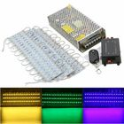 Buy 60PCS 5 Colors SMD5050 LED Module Store Strip Light Front Window Lamp + Power Supply + Remote DC12V