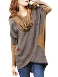 Loose Irregular Cotton Bat Sleeve Women T-shirt