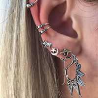 Trendy Elephant Star Moon Ear Clip Gift for Women Girl