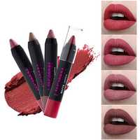 12 Colors Lip Stick Pen Matte Velvet Non Stick To Cup