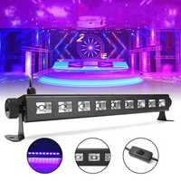 27W 385NM UV Auto Color Changing LED Stage Light for Bar Disco Party Club Christmas