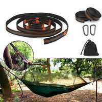 2 Pcs Adjustable Hammock Straps Camping Hiking Hammock Rope Carabiner With Storage Bag